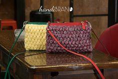 DIY Cross Body Crochet Zipper Bag kit, mini cross body bag, black brown blue gray white bag, crochet bag craft supplies, creative gift