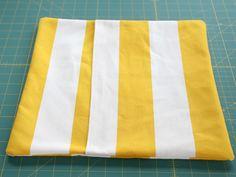 diy envelope pillow