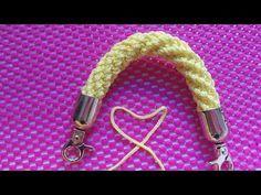 Örgü Kordon | DIY Crochet Cordon Tutorial | Manici A Spirale All'uncinetto | How To Crocheted i-cord - YouTube