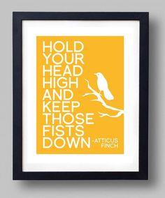 To Kill A Mockingbird Atticus Finch CUSTOMIZABLE quote wall art ...