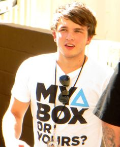 """Josh Devine <3 Funny story...so there is a guy on one of our local news channels and he was doing a report on something and at the end he was like """"reporting live, Im Josh Devine"""" I got excited....(:"""