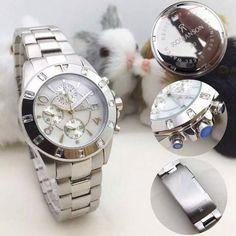 Đồng hồ Romanson dây kim loại trắng Hàn Quốc