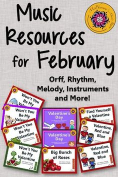 February Resources for the Elementary Music Classroom! Lots of engaging activities with rhythm, melody, instruments and detailed lesson plans! Interactive fun for all!