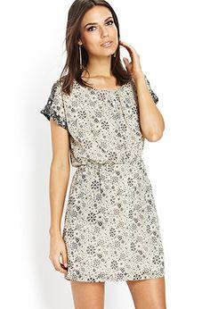Atomic Print Shift Dress | FOREVER21 - 2000063502