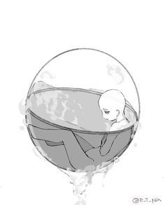 Referencia de una persona en una burbuja Cartoon Sketches, Art Sketches, Art Drawings, Drawing Base, Manga Drawing, Poses Manga, Drawing Body Poses, Creation Art, Drawing Reference Poses