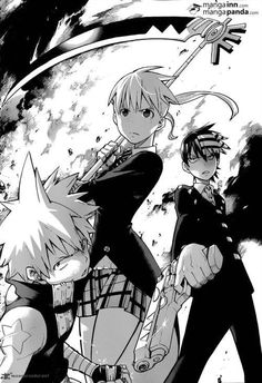Soul Eater - Maka, Soul and Death the Kid