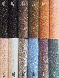 Premium Quality Luxury Beaded Chunky Glitter Fabric Sheets Crafts and Bows