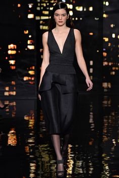 02.16.15:Kendall Jenner on the runway for the Donna Karan fashion show
