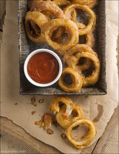 Sensational Sides – Beer-Battered Onion Rings: Of course, onion rings are great served atop a juicy steak. They're perfect when paired with a big ole cheeseburger. But my favorite way to enjoy this delectable snack is simply this: dunked in copious amounts of tangy ketchup and washed down with a pint of cold beer.