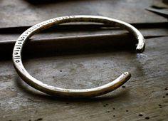 Bracelet manchette argent de Mens rustique et par lazarusdesigns
