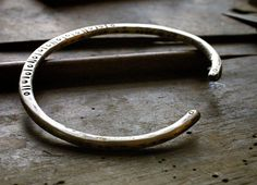 Rustic and Simple Mens Silver Cuff Bracelet by rubybliss on Etsy, $85.00
