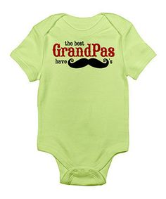 Look what I found on #zulily! CafePress Kiwi 'The Best Grandpas Have Mustaches' Bodysuit by CafePress #zulilyfinds