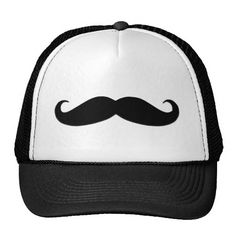 Shop Funny brown handlebar mustache moustache trucker hat created by MustacheGifts. Personalize it with photos & text or purchase as is! Moustaches, Moustache Design, Snapback, Black Trucker Hat, Trucker Hats, Skate, Handlebar Mustache, Vintage Humor, Funny Vintage