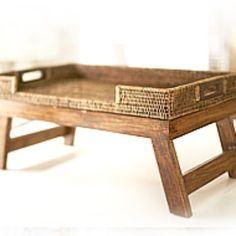 Rattan breakfast bed tray