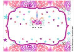 Be happy: Printable Birthday Banner Unicorn Birthday Parties, Unicorn Party, Birthday Party Themes, Birthday Cards, Unicorn Printables, Party Printables, Baby Shower Unicornio, Printable Birthday Banner, Unicorn Baby Shower