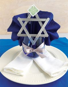 DIY Star of David Ornaments for Hanukkah #decoration #craft #chanukah