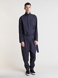 Damir Doma - Blue Odeme Overall for Men - Lyst Unisex Fashion, Mens Fashion, Fashion Degrees, Streetwear, Damir Doma, Mens Trends, Androgynous Fashion, Japanese Outfits, One Piece Suit