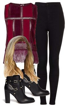 """Untitled #4985"" by angela379 ❤ liked on Polyvore featuring Topshop, Valentino and angela379"