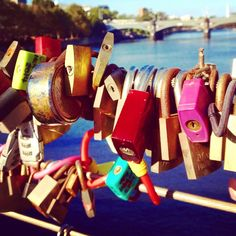 Love lock bridge #Melbourne