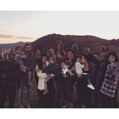 Pin for Later: See How Stars Are Celebrating the Thanksgiving Weekend!  The Kardashian-Jenner clan posed for a big family photo at sunset.