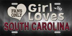 This Girl Loves South Carolina License Plate Tag #SouthCarolinaGamecocks