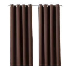 DOCKASTER Rideaux occultant, 1 paire IKEA Les oeillets permettent de suspendre les rideaux directement sur une tringle.