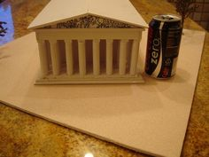 ancient greek building projects done by 6th grade | The Parthenon Athens Greece model