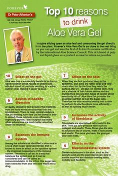 Why drink Aloe Vera Gel ? Because it's got so many benefits it's had to make a top 10!!