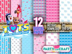 Find many great new & used options and get the best deals for AWESOME Disney TOTS Digital Paper DIGITAL FILE - Scrapbooking Disney Junior TOTS at the best online prices at eBay! Free shipping for many products! Disney Junior, Disney Jr, Disney Toms, Printable Crafts, Printable Paper, Party Supplies, Craft Supplies, Scrapbooking Digital, For Your Party