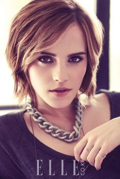 Emma Watson. Short hair after pixie cut......except this is short not long contrary to my board name haha this is adorable