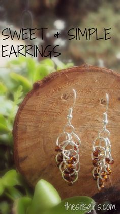 Easy earrings to make!
