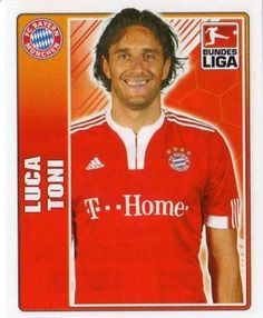 FC BAYERN MUNICH - Luca Toni 332 TOPPS Fussball Bundesliga 2009 2010 Football Sticker