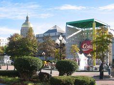 Atlanta, Georgia.  Headquarters for Coca-Cola.  The Coca-Cola Museum and bottling tours are interesting.