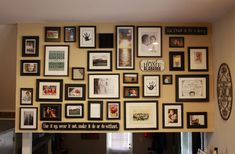 Gallery wall photos with a good description of the process of assembling it