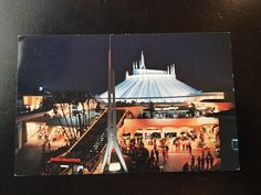 Vintage Disneyland Tomorrowland Postcard - Spectacular Space Mountain by VintageDisneyana on Etsy