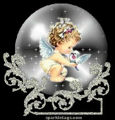 Animated Gif by Angel Ella Angel Images, Angel Pictures, Gif Pictures, Baby Pictures, Christmas Globes, Christmas Angels, Dream Catcher Wallpaper Iphone, Glitter Globes, Photo Background Images