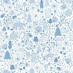 The Agnes digital wallpaper from Photowall was designed by the Swedish illustrator Cathy Nordström. The pattern was inspired by the Nordic nature, its flora and fauna and all its cute details. The pattern is printed on premium Photowall wallaper. The wallpaper is scratch proof and easy to clean, making it perfect for the kid's room!