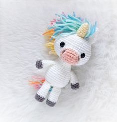 **This is a PDF Pattern Tutorial, not a finished or made-to-order item!** Make your own Rainbow Unicorn in just a few hours! Use you imagination to customize its colors for endless possibilities! This sweet unicorn plush is perfect for adults and children alike! The easy-to-follow pattern