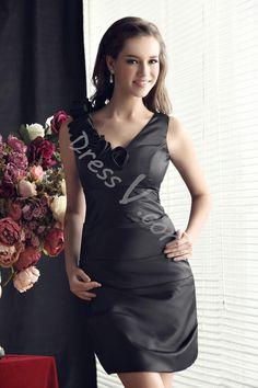 Customized Floral V-Neck Knee Length Sheath Bridesmaid Dress #mermaid dress #dressv reviews #fashion #beauty #women #dressv