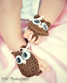 Owl Baby Barefoot Sandals Newborn and Up by tweetotshop on Etsy