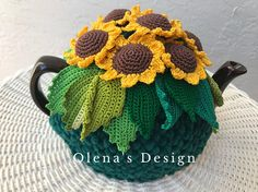 18 Stylish and Functional Open Kitchen Shelf Ideas to Save More Space - The Trending House Crochet Ripple, Crochet Wool, Crochet Geek, Green Kitchen Accessories, Tea Accessories, Tea Warmer, Crochet Sunflower, Mug Cozy, My Tea