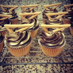 The Midas Cupcake! A tasty combination of chocolate and peanut butter..order yours at www.crystalsbakery.com for just $26.00 a dozen! Free delivery available in orange county