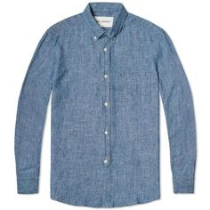 Our Legacy Everyman 1940s Button Down Shirt (Blue Chambray)