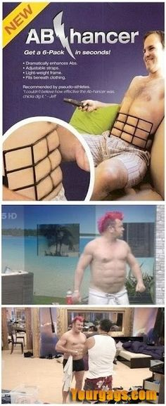 Get a six Pack abs in Seconds lol