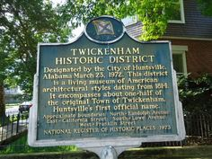Twickenham Historic District, Huntsville Alabama.  All the homeowners in the Twickenham District are required to maintain their homes to the proper early 1800 period when they were originally built.