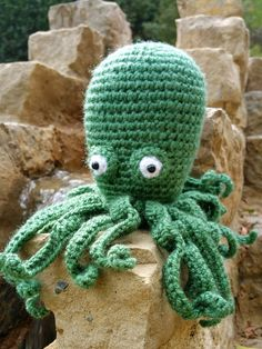OCTOPUS SEA PLUSH 4'' crochet squid kids tentacles gift