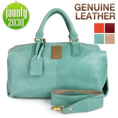 New GENUINE LEATHER purse handbag satchel TOTES SHOULDER Bag[WB1138- MINT Color] | eBay