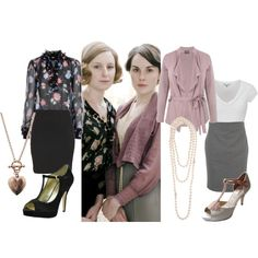 Absolutely love the look that is inspired by the ladies of Downton Abbey. Beautiful, elegant, and refined. :)