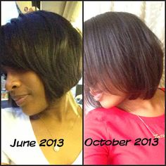 Little Things I Love: Natural Hair growth, transitioning from relaxed hair and growing out my bob hair cut