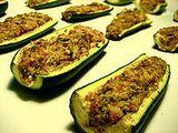 Creamy Ricotta Parmesan Zucchini Boats